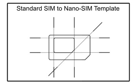 Sim Card Template Usa by Scio Sphere Diy Nano Sim To Regular Size Sim Adapter
