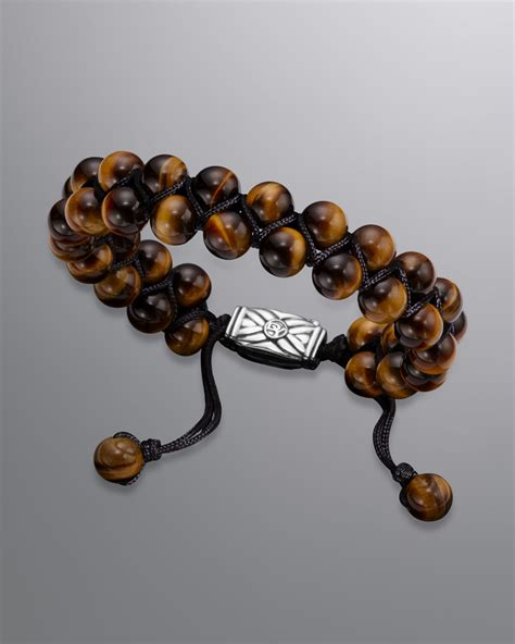tiger eye bead bracelet david yurman spiritual bead bracelet tigers eye in brown