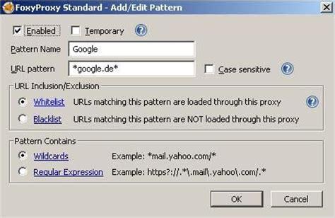 url pattern mit firefox anonym surfen freeware de