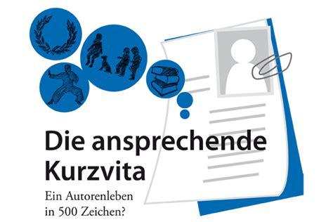 Kurzvita Muster by Die Ansprechende Kurzvita Autorenwelt
