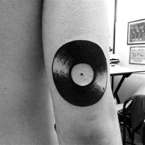 Simple Vinyl Tattoo | 62 classy vinyl record tattoo designs and ideas golfian com