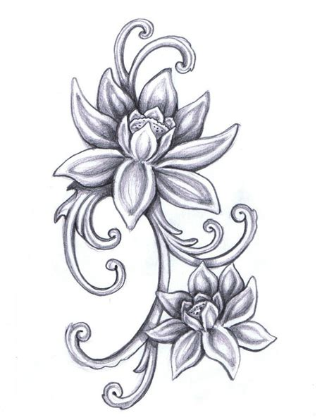 tattoo flower drawn lotus flower drawings for tattoos tattoos pinterest