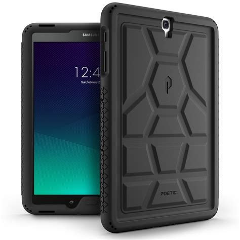 9 Samsung Cases Poetic For Samsung Galaxy Tab S3 9 7 Turtleskin Series Silicone Cover Black Ebay