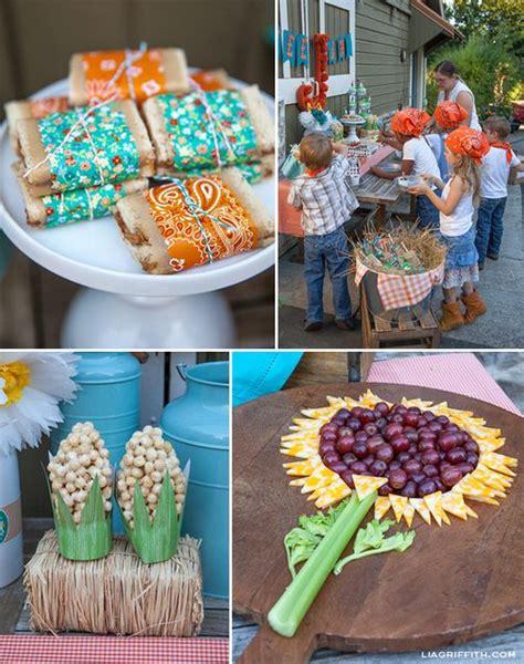 farm themed birthday food farm barnyard birthday party ideas