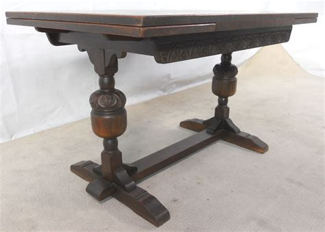 sold antique jacobean style oak drawleaf refectory