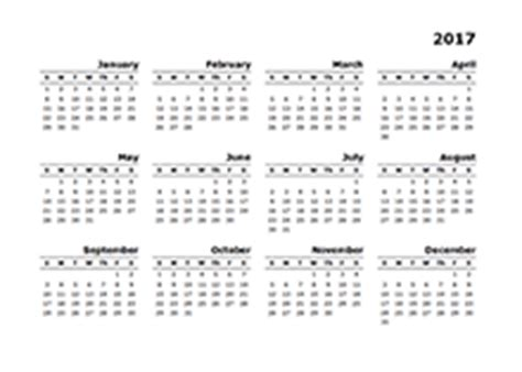 Annual Calendar Templates – Yearly Calendar Template for 2017 and Beyond