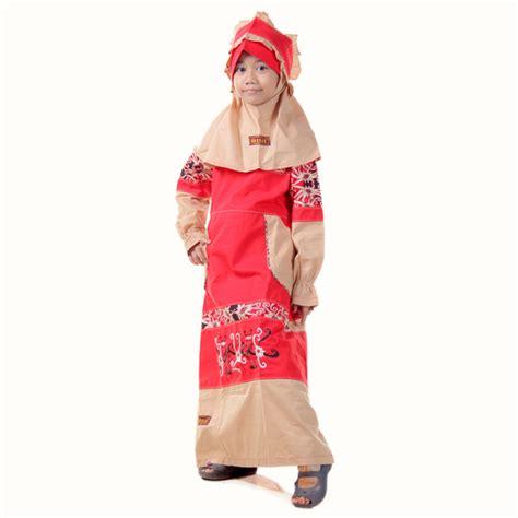 Baju Anak Merah No 8 detail produk baju anak muslimah borneo merah toko bunda
