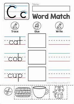 matching cvc words to pictures worksheets cvc words cut and paste matching activity by lavinia pop tpt