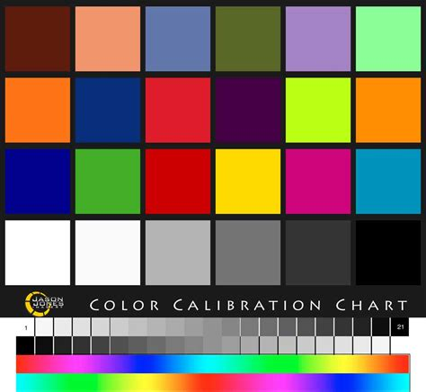color calibration jason jones imagery color calibration chart