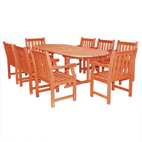 9 Piece Wood Patio Dining Set V144set3 Wooden Patio Dining Set
