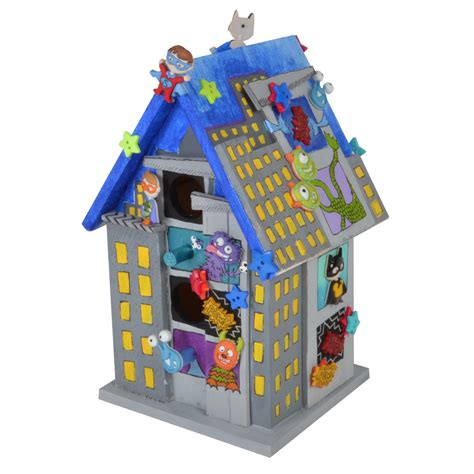 Dress It Up Button Mad For Monsters city birdhouse dress it up
