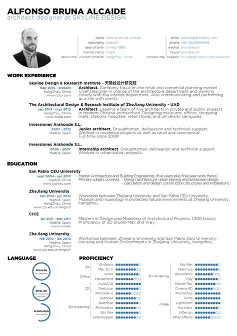 Resume Exles For Architecture Gallery Of The Top Architecture R 233 Sum 233 Cv Designs 1