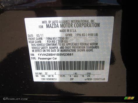 color code for black 2011 mazda6 color code 37c for black cherry metallic photo