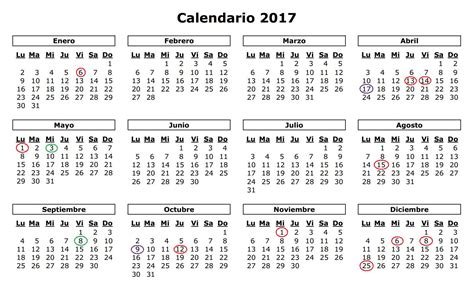 Calendario Laboral Valencia 2017 Calendario Laboral X 224 Bia 2017 J 225 Vea X 224 Bia