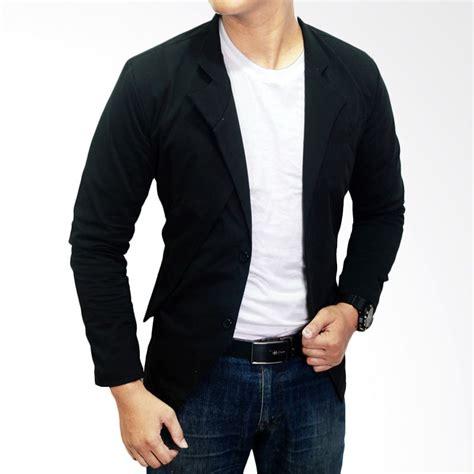 Blazer Hitam Pria Jual Gudang Fashion Korean Slim Fit Blz 582 Hitam Blazer