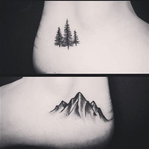 small tattoo price range small pine tree and mountain range tattoos