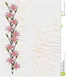 rijstpapier l de aziatische lelie bloeit grens op rijstpapier stock