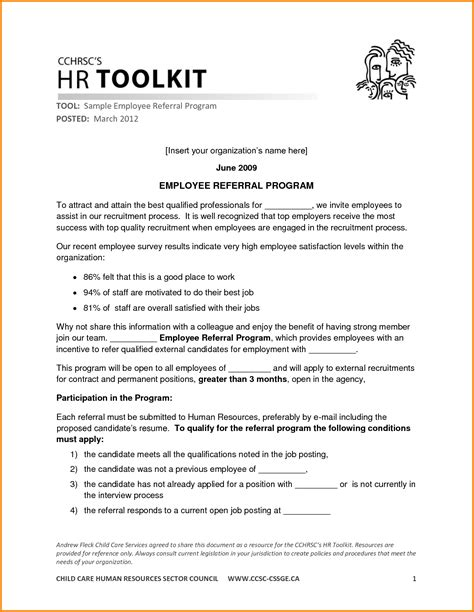 Employment Referral Letter An Application Letter For Employment