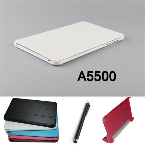 leather book lenovo a5500 new fashion tablet pu leather stand cover for lenovo