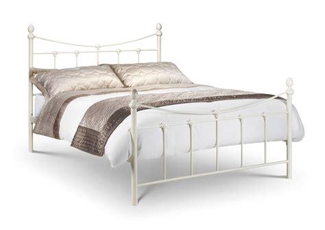 White Metal Bed Frame King King Size Black Gold Or White Metal Bed Frame Telly 4u