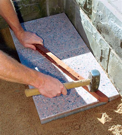 Balkon Steinplatten Verlegen by Terrasse Mit Betonplatten Steinterrasse Selbst De