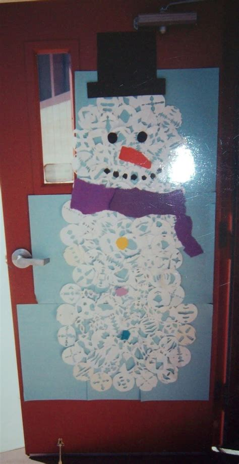 snowflake snowman door yearn to learn