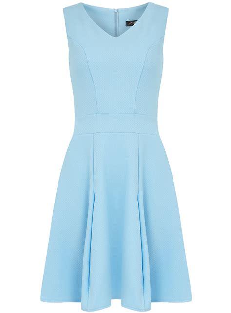 Longdress Basic Sky plain blue skater dress dress on sale