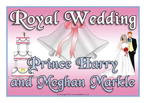 Wedding Banner Sparklebox by Royal Wedding 2018 Harry And Meghan Display Posters