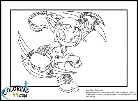 coloring pages of stealth elf skylanders elves coloring pages team colors