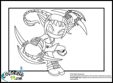 skylanders coloring pages stealth elf skylanders elves coloring pages team colors