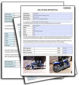 motorcycle sale contract template motorcycle bill of sale free blank form