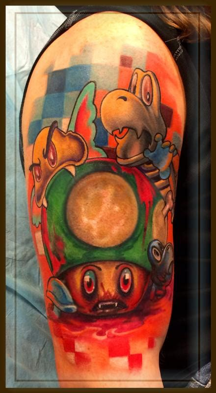 3rd dimension tattoo nintendo by brian murphy tattoonow