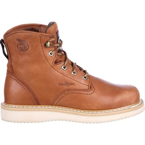 boot s leather work boots with wedge sole
