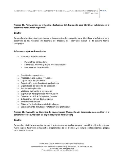 resultados oficiales de evaluacion docente 2015 inee resultados de la evaluacion docente 2015 bases para