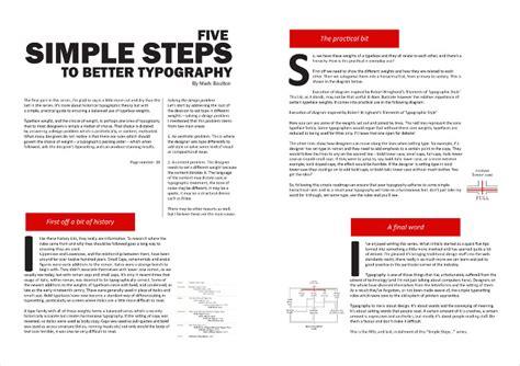 magazine layout hierarchy typography zuaidah