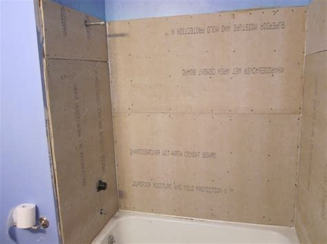 how to install drywall around a bathtub tile backer board breakdown which one is best for showers