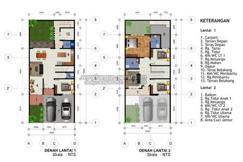 layout rumah lebar 6 meter rumah minimalis cat hitam putih terbaru denah rumah