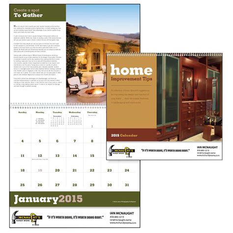 custom home improvement tips triumph calendars x11280