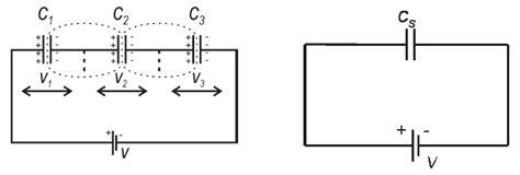 kapasitor seri susunan kapasitor seri fisika zone