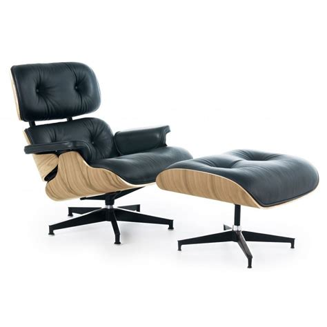 Plywood Lounge Chair And Ottoman by Eames Style Lounge Chair And Ottoman Black Leather Oak Plywood