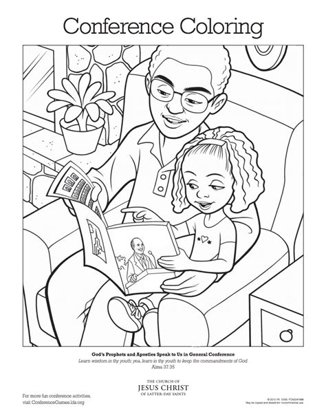conference coloring pages lds lds general conference activities for kids ldsconf