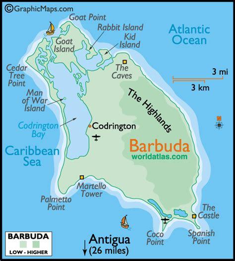 map of antigua and barbuda barbuda