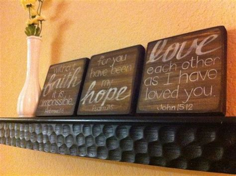 scripture art home decor wall art faith hope love set love this want for my room but on canvas with light
