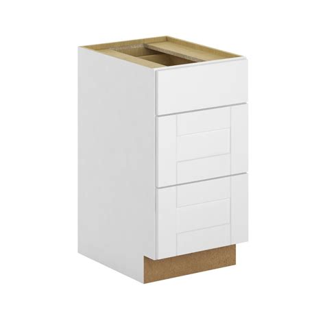 3 drawer base cabinet hton bay princeton shaker assembled 18x34 5x24 in 3