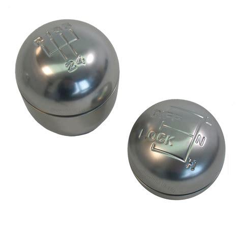 Gear Knobs Uk by 2pc Aluminium Hi Low Ratio Gear Knob Selector Land Rover Defender Lt77 Lt85 Ebay