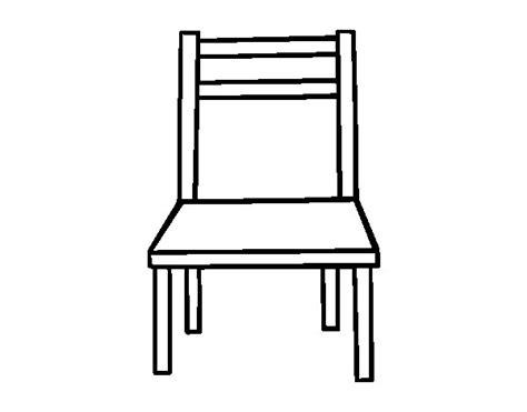 dessin de chaise coloriage de une chaise en bois pour colorier coloritou com