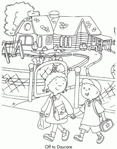 Daycare Coloring Pages