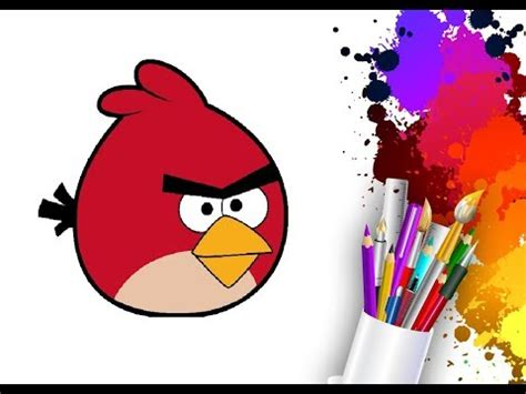 paint draw how to draw an amazing angry birds with ms paint for