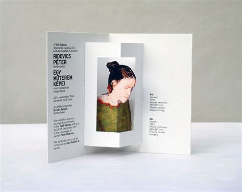 invitation card design for exhibition invitation card for the exhibition of peter ridovics on