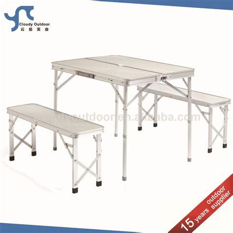 portable folding bench outdoor portable suitcase folding table bench buy